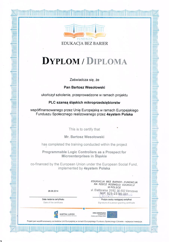 Certyfikat PLC